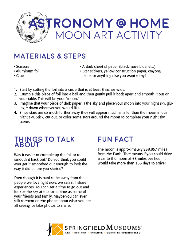 Astronomy at Home: Moon Art Activity