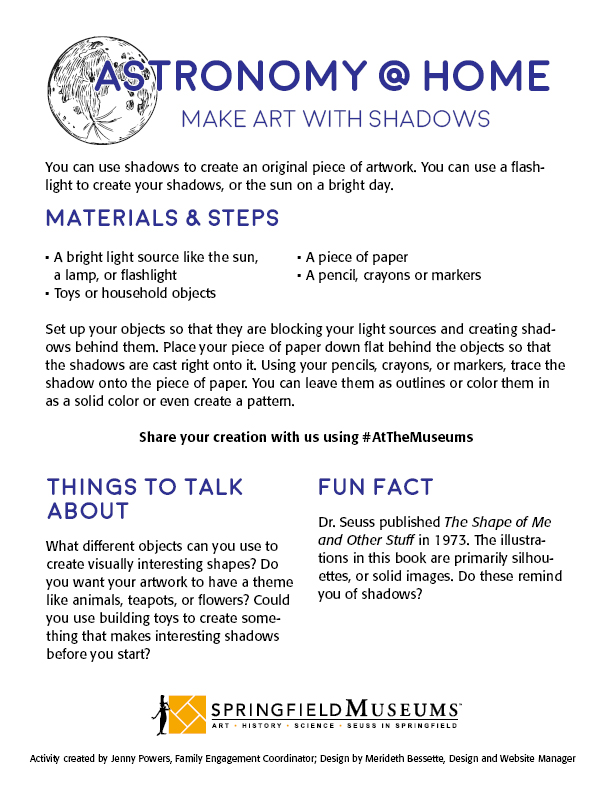 Astronomy at Home: Make Art with Shadows