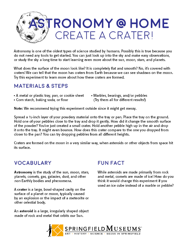 Astronomy at Home: Create a Crater