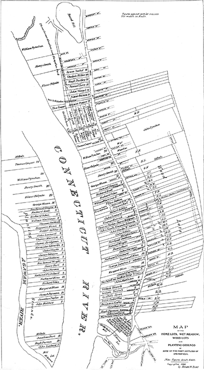 Map Of Early Springfield