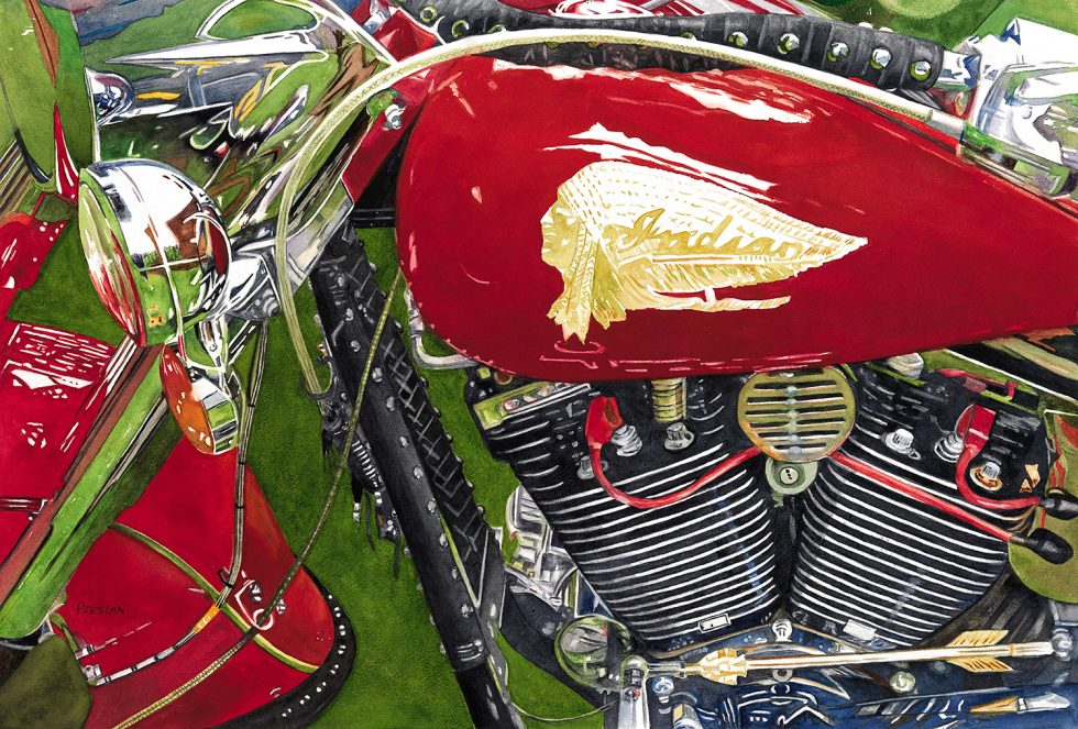 Automobiles And Motorcycles Primary Subject In New Art Exhibit