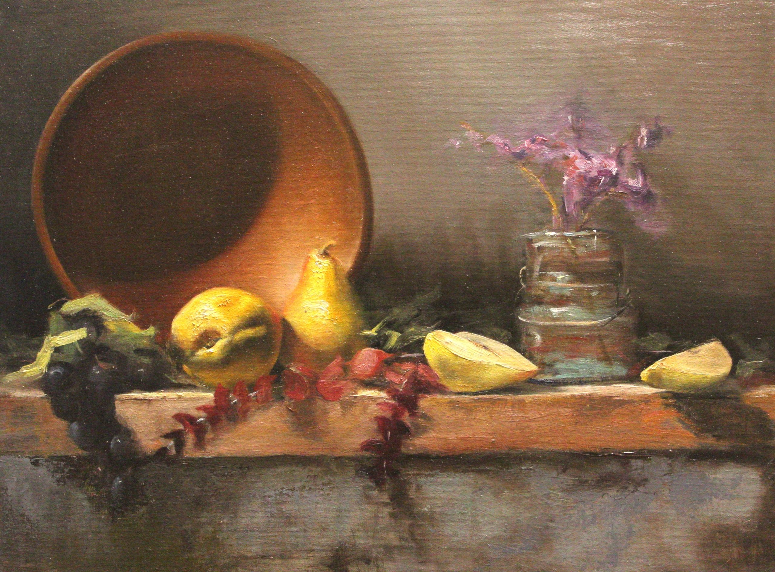 Painting The Still Life In Oil