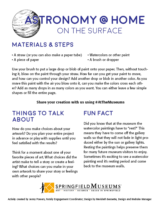 Astronomy at Home: On the Surface