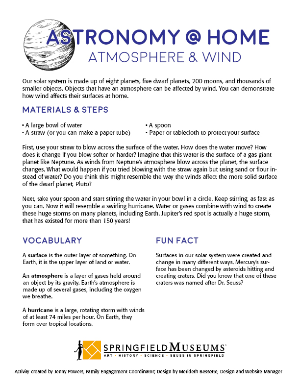 Astronomy@Home: Atmosphere & Wind