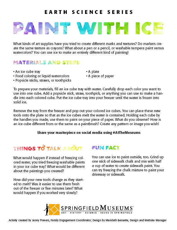 Earth Science Activity: Paint with Ice