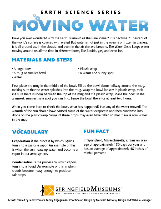 Eaeth Science Activity: Moving Water