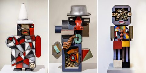Trio of abstract sculptures by Shawn Farley