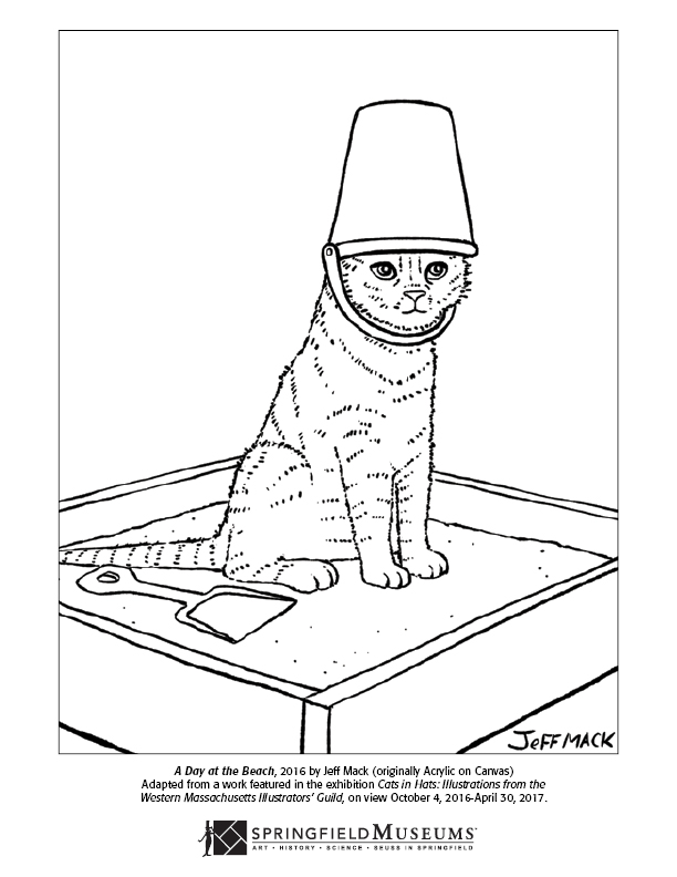Cats in Hats Coloring Page