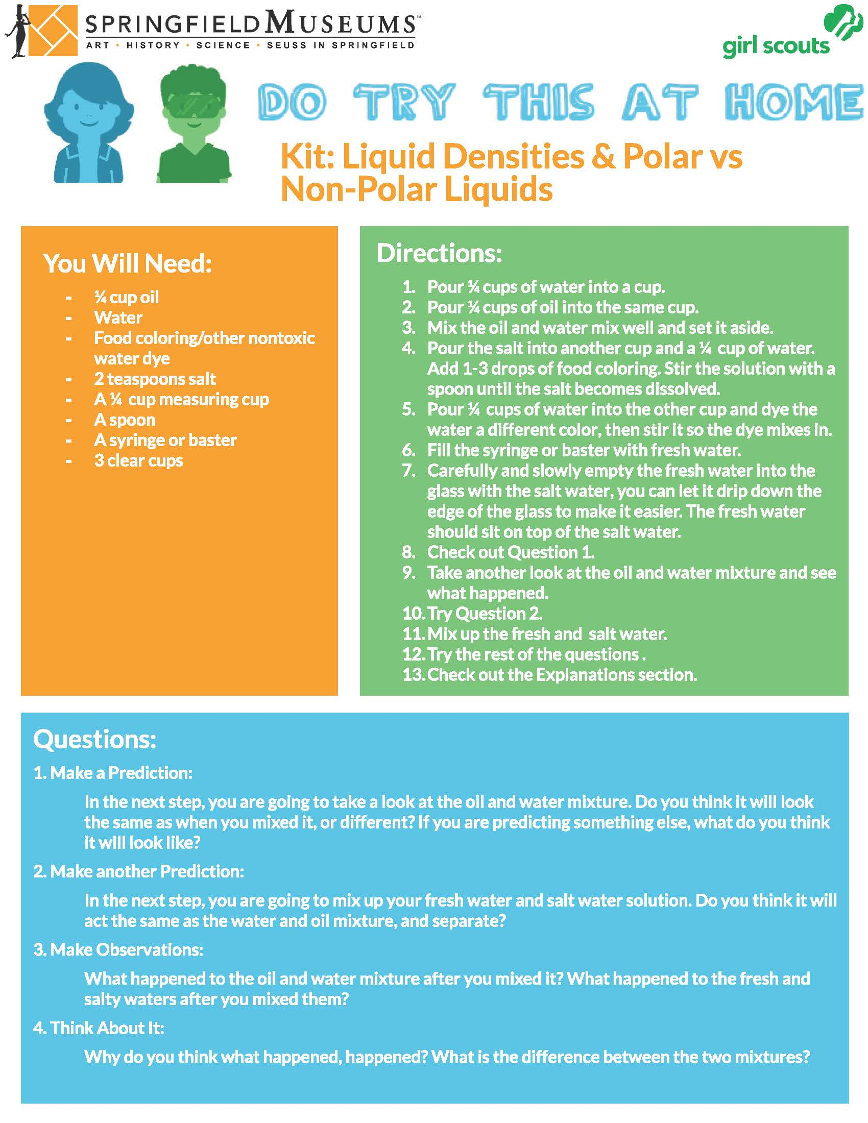 Liquid Densities & Polar vs. Non-Polar Liquids