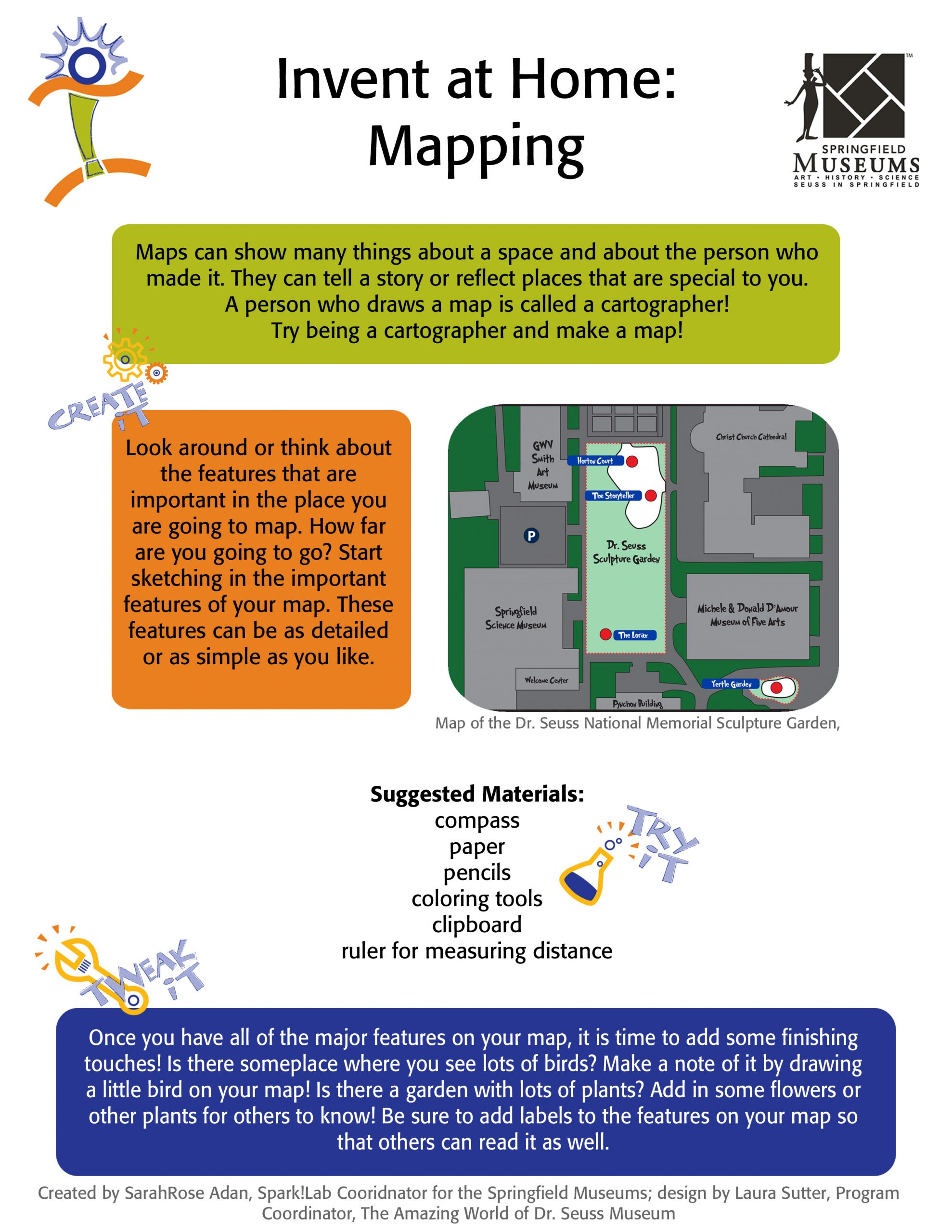 Invent at Home: Mapping Activity Instructions