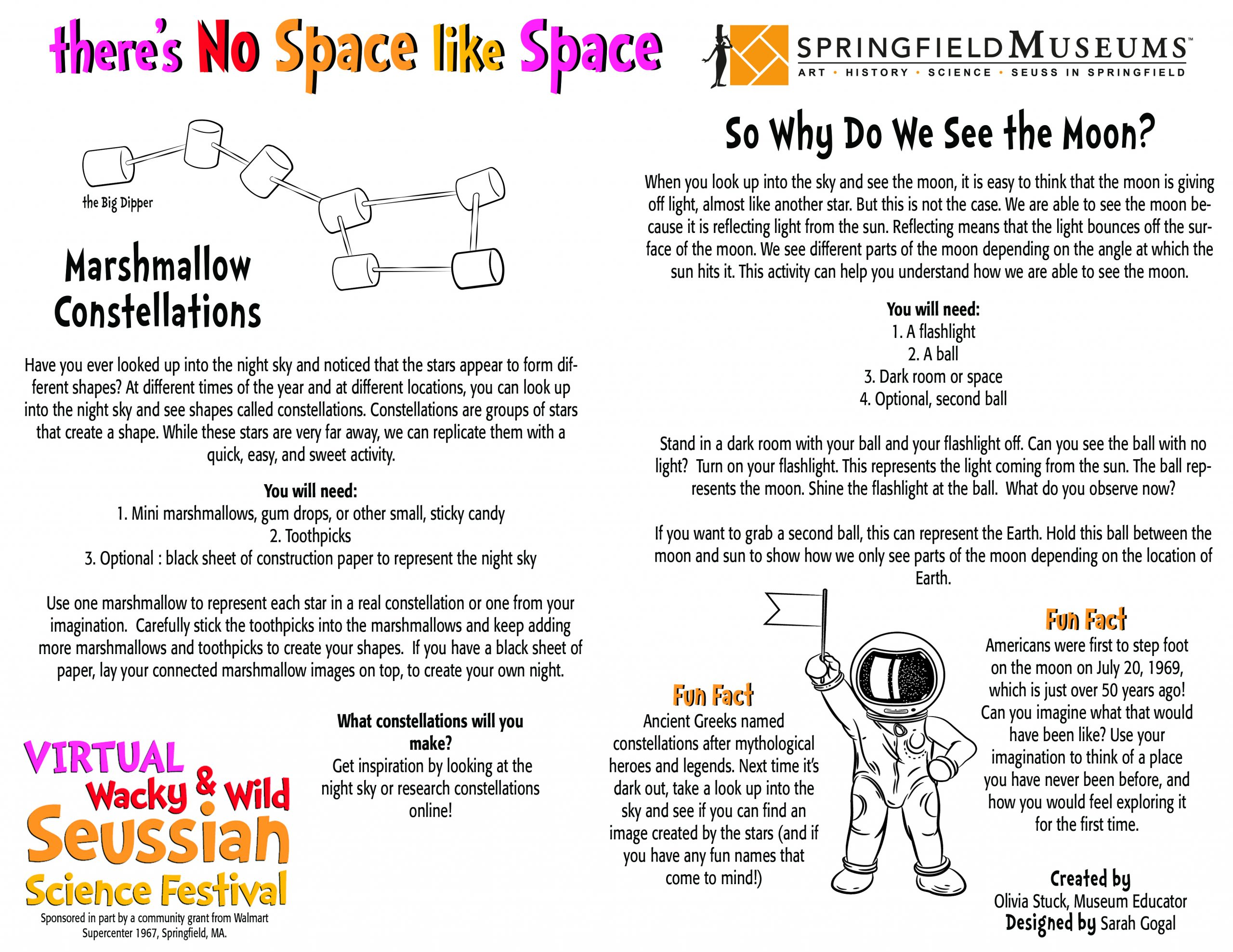 Seussian Space Activity Instructions