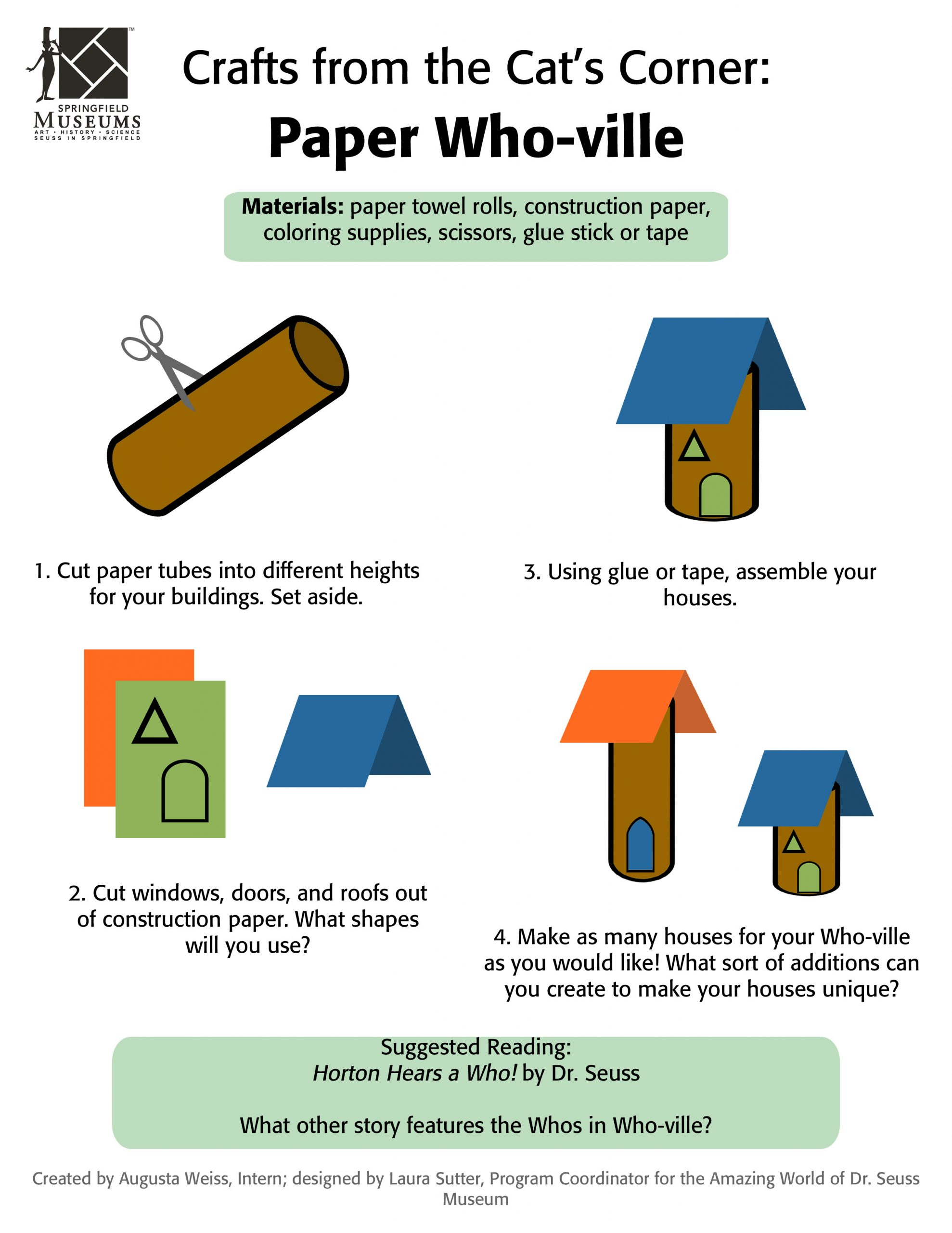 Crafts from the Cat's Corner: Paper Who-ville Activity Instructions