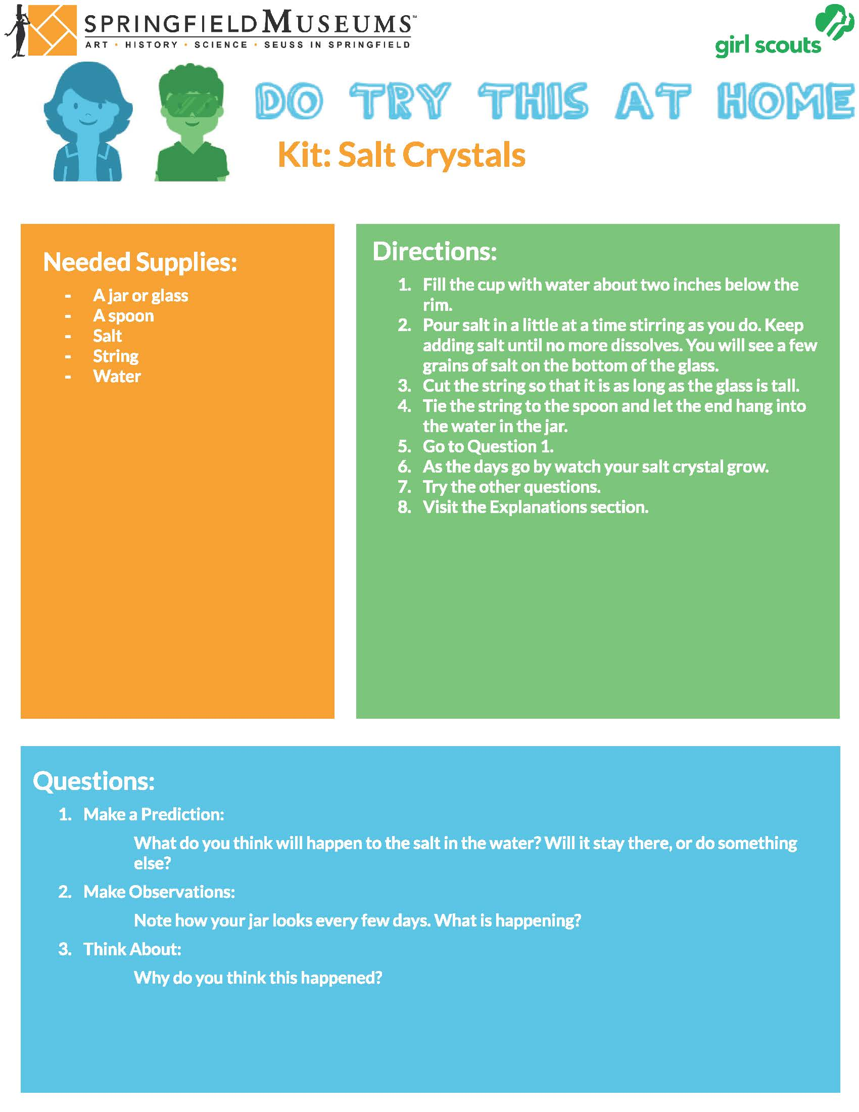 Do Try This At Home Kit: Salt Crystals