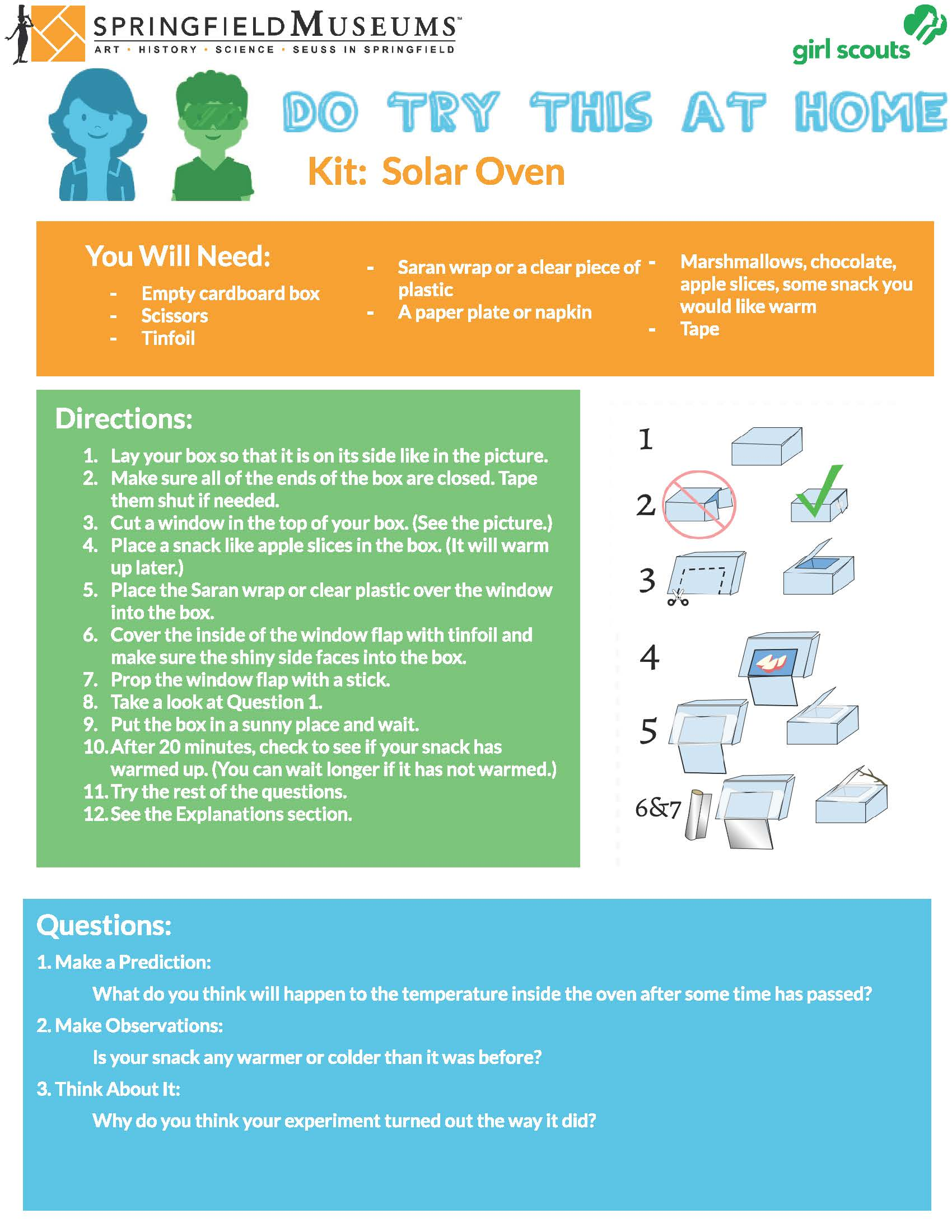 Do Try This At Home Kit: Solar Oven