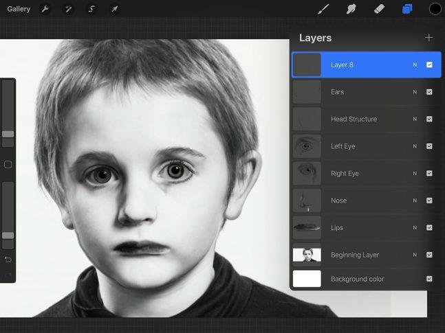 Screenshot of a photo editing program