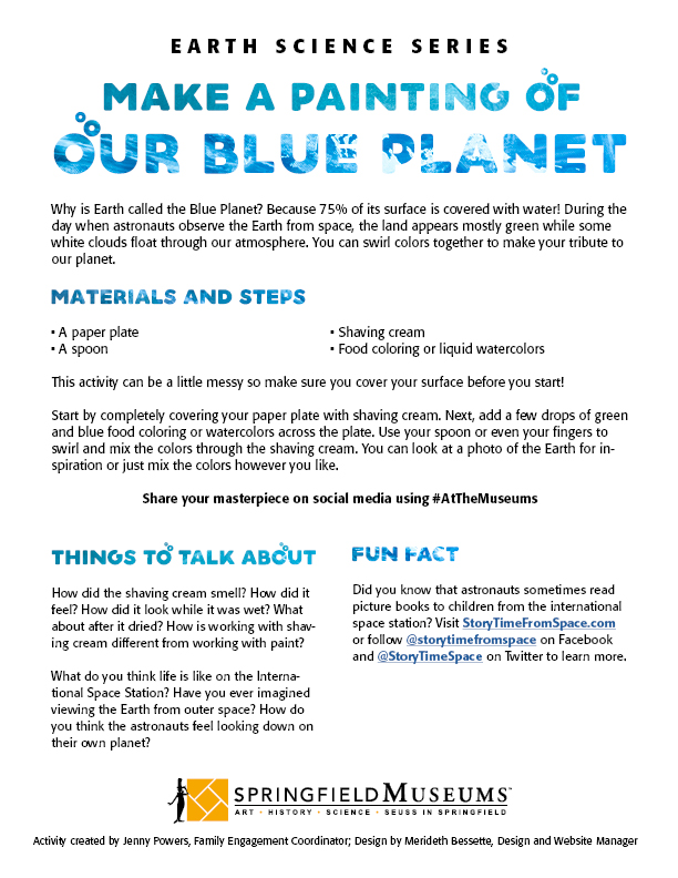 Make a Painting of our Blue Planet