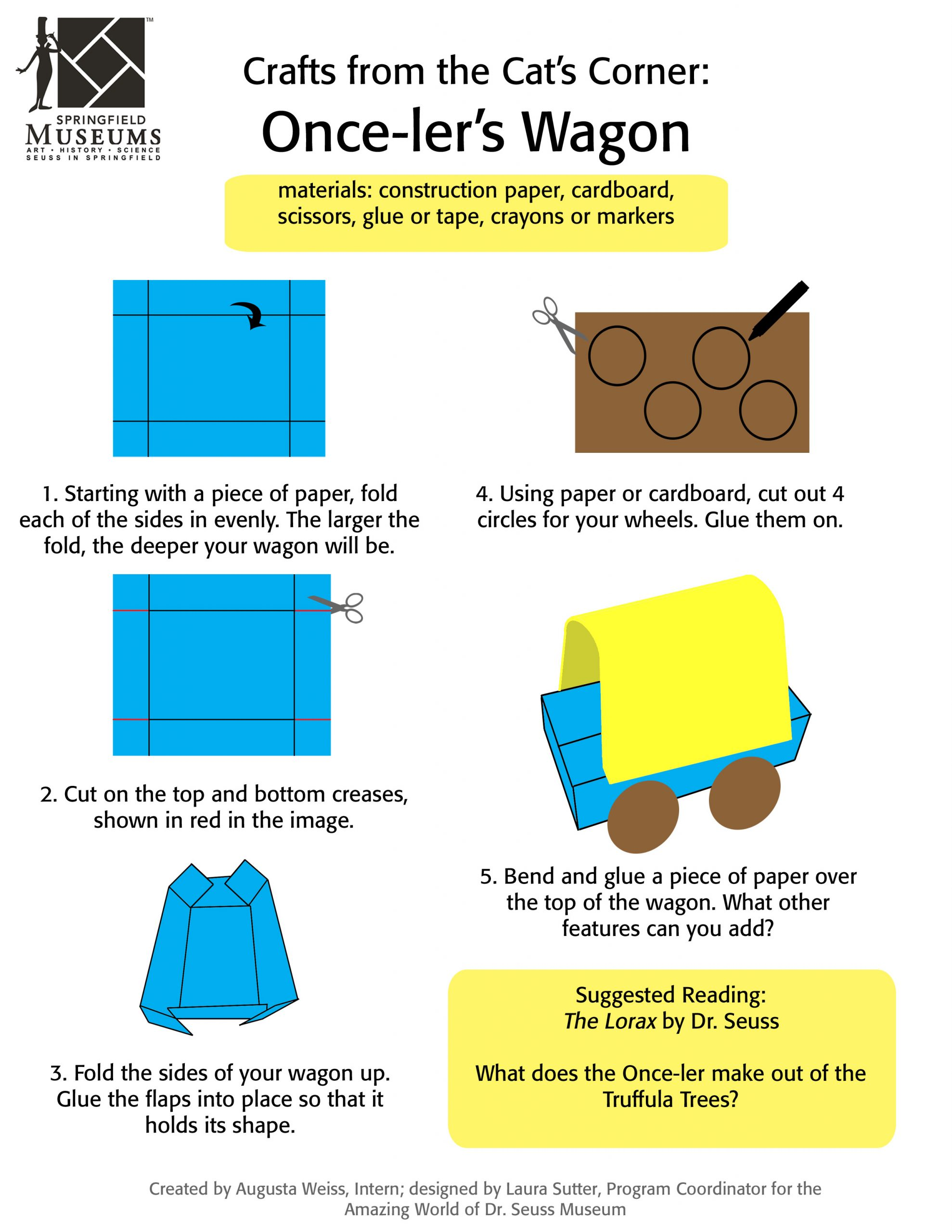 Crafts from the Cat's Corner: Once-ler's Wagon Activity Instructions