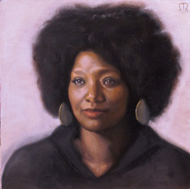 Painted portrait of a woman