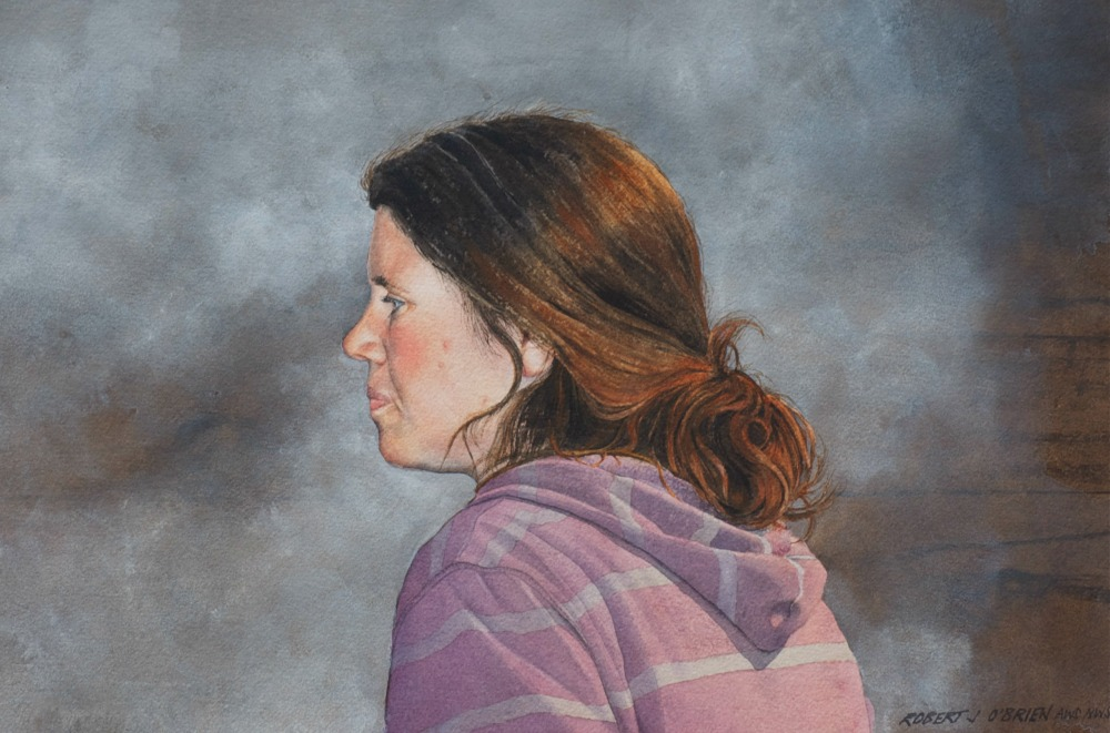 Painting The Portrait In Watercolor