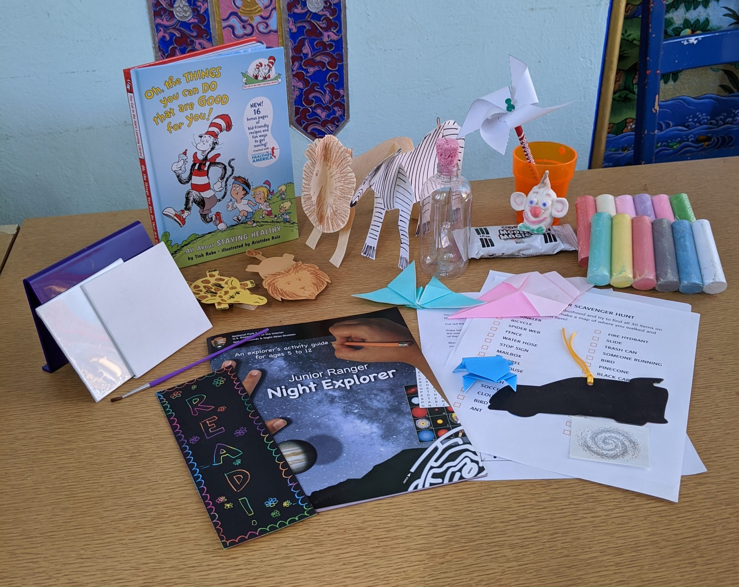 Image of multiple craft and activities supplies