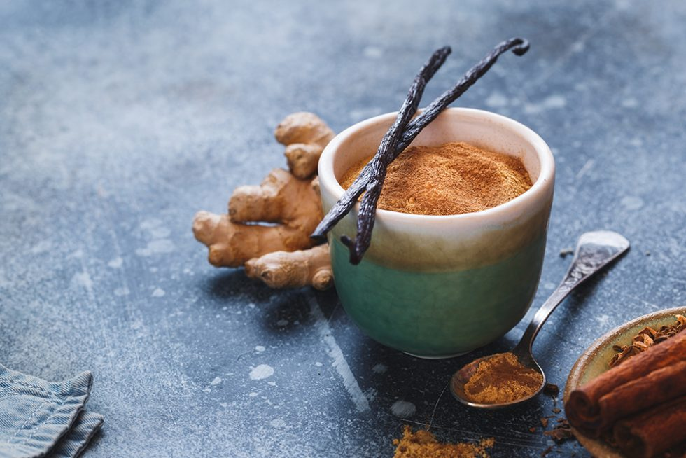 Ginger and Cinnamon with Tea