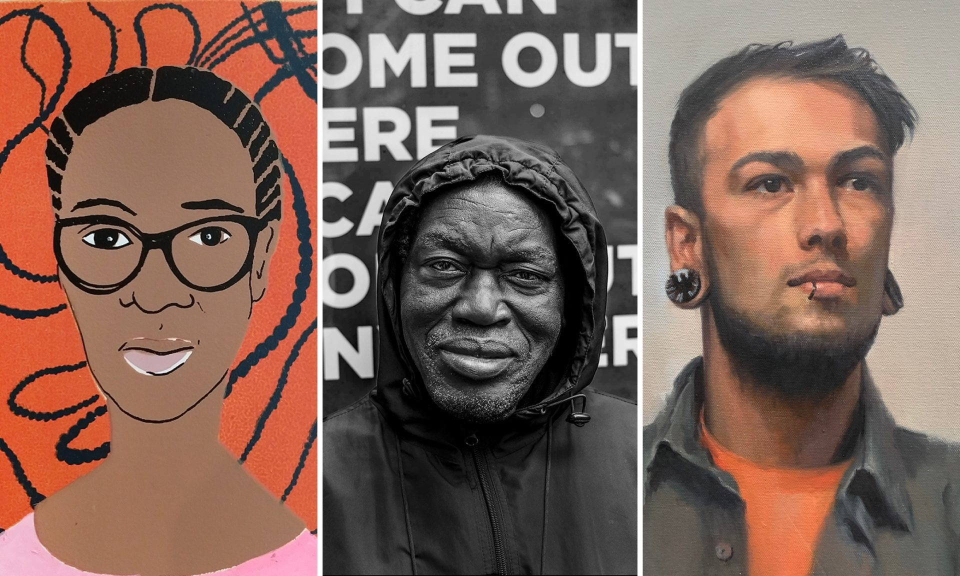 Trio of Portraits by Local Artists