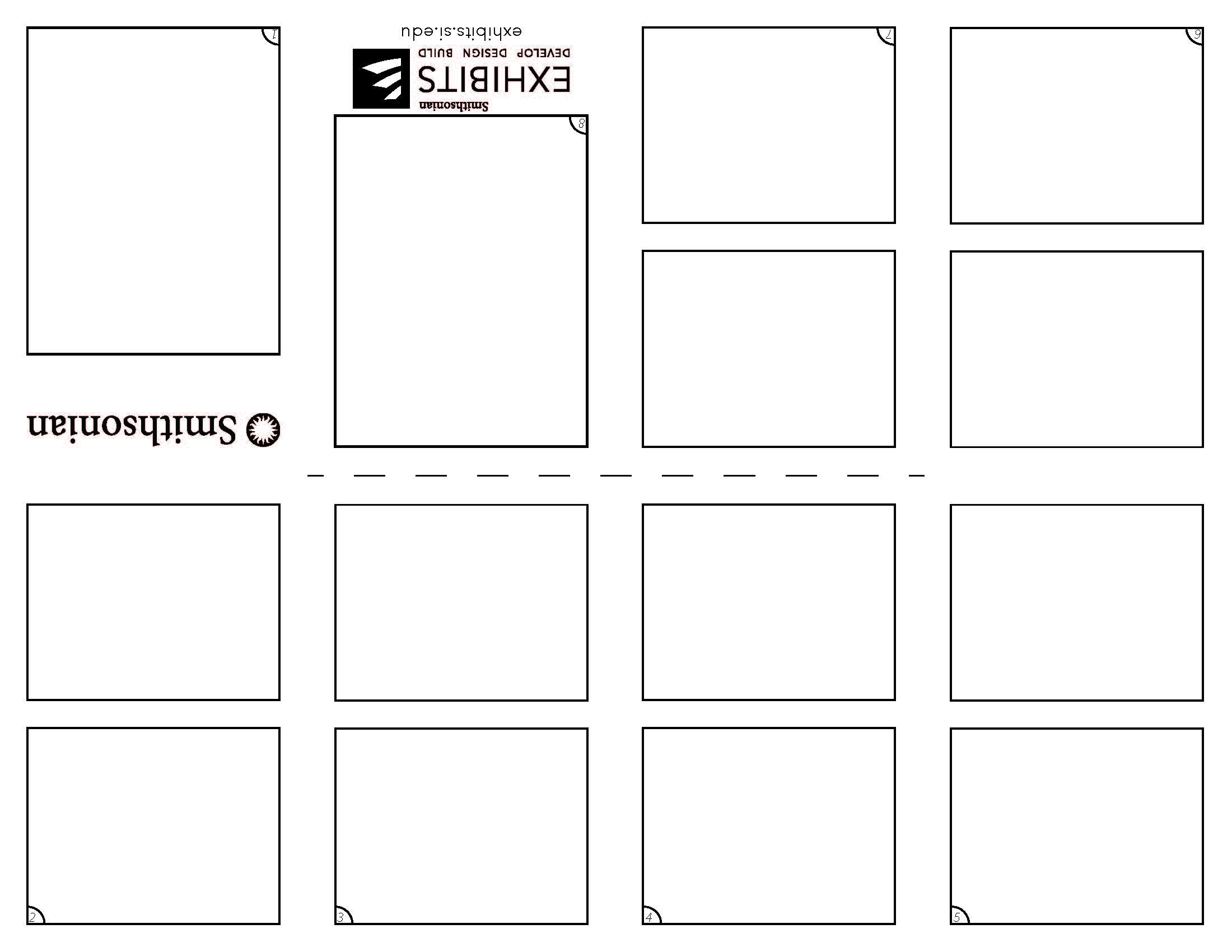 8 Page Comic Template