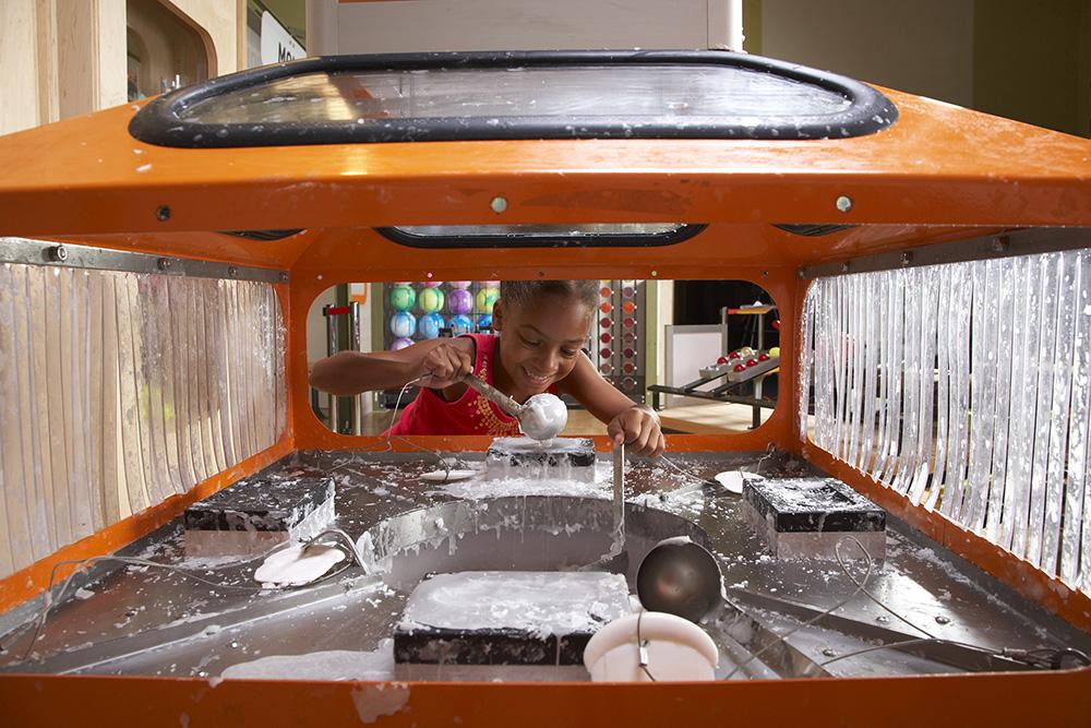 Girl Creating a wax mold