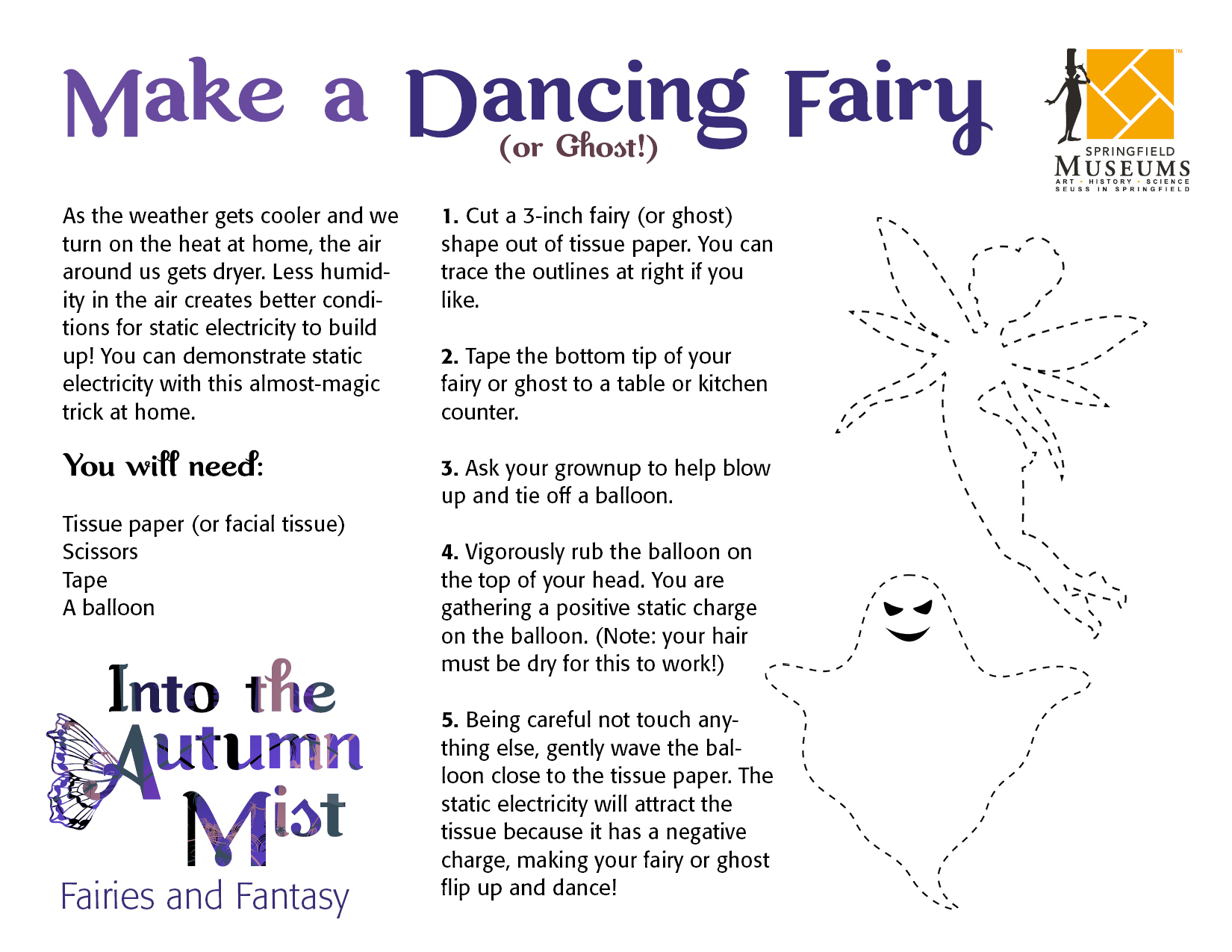 Dancing Fairy or Ghost Instructions