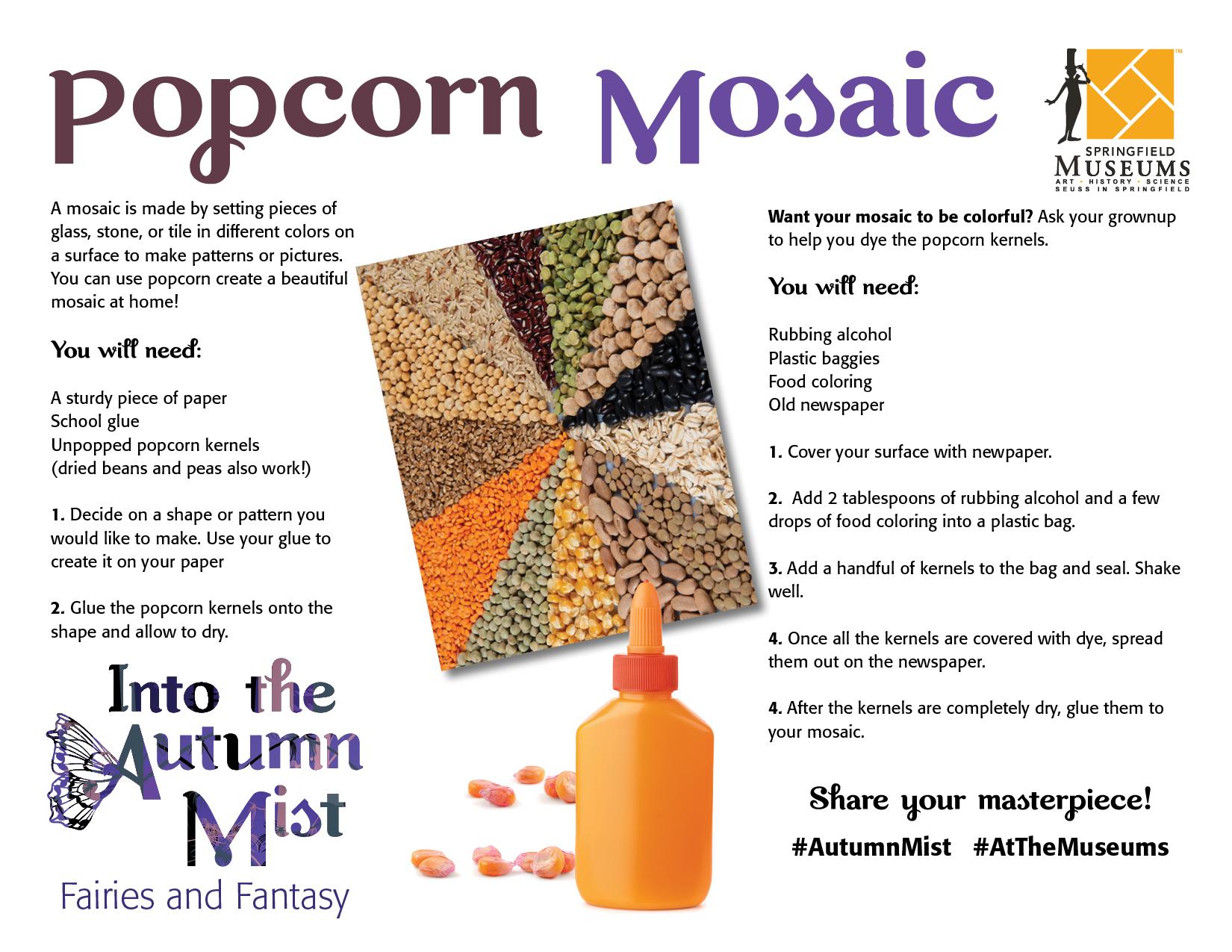Popcorn Mosaic Instructions