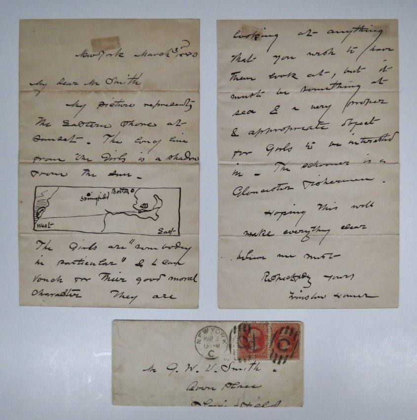 Letter To George Walter Vincent Smith From Winslow Homer, New York, March 3, 1880
