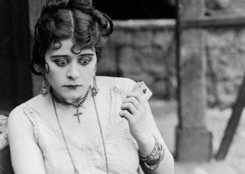 Film still of actress Theda Bara