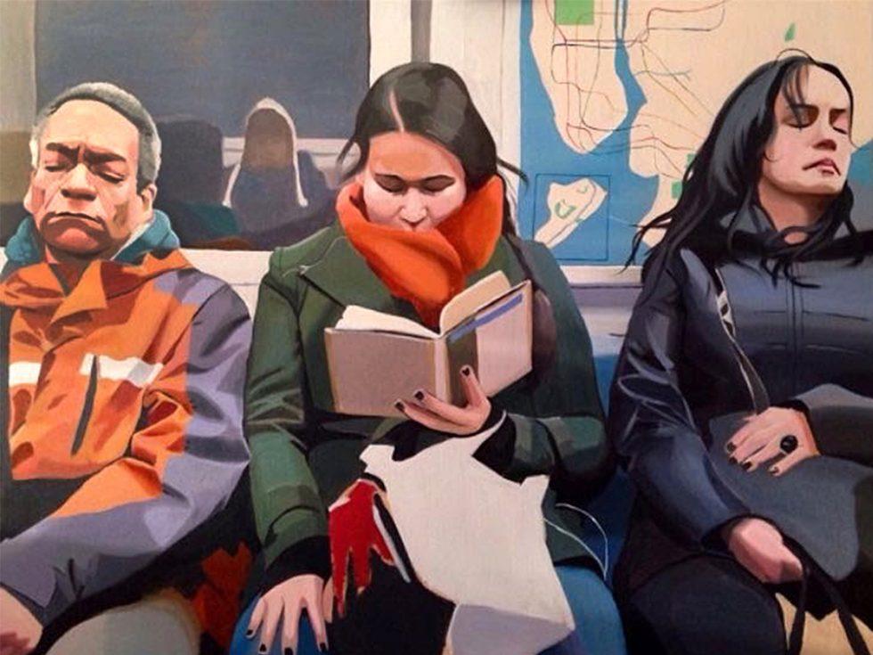 Subway Painting by Devon Rodriguez