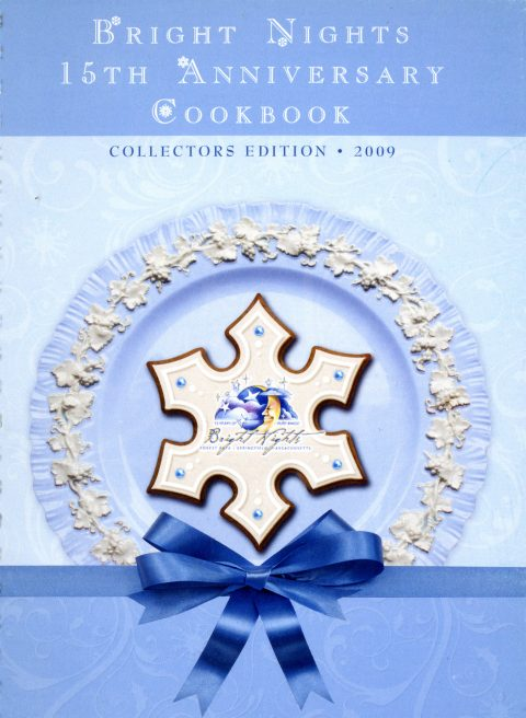 Old cookbook cover blue with snowflake cookie