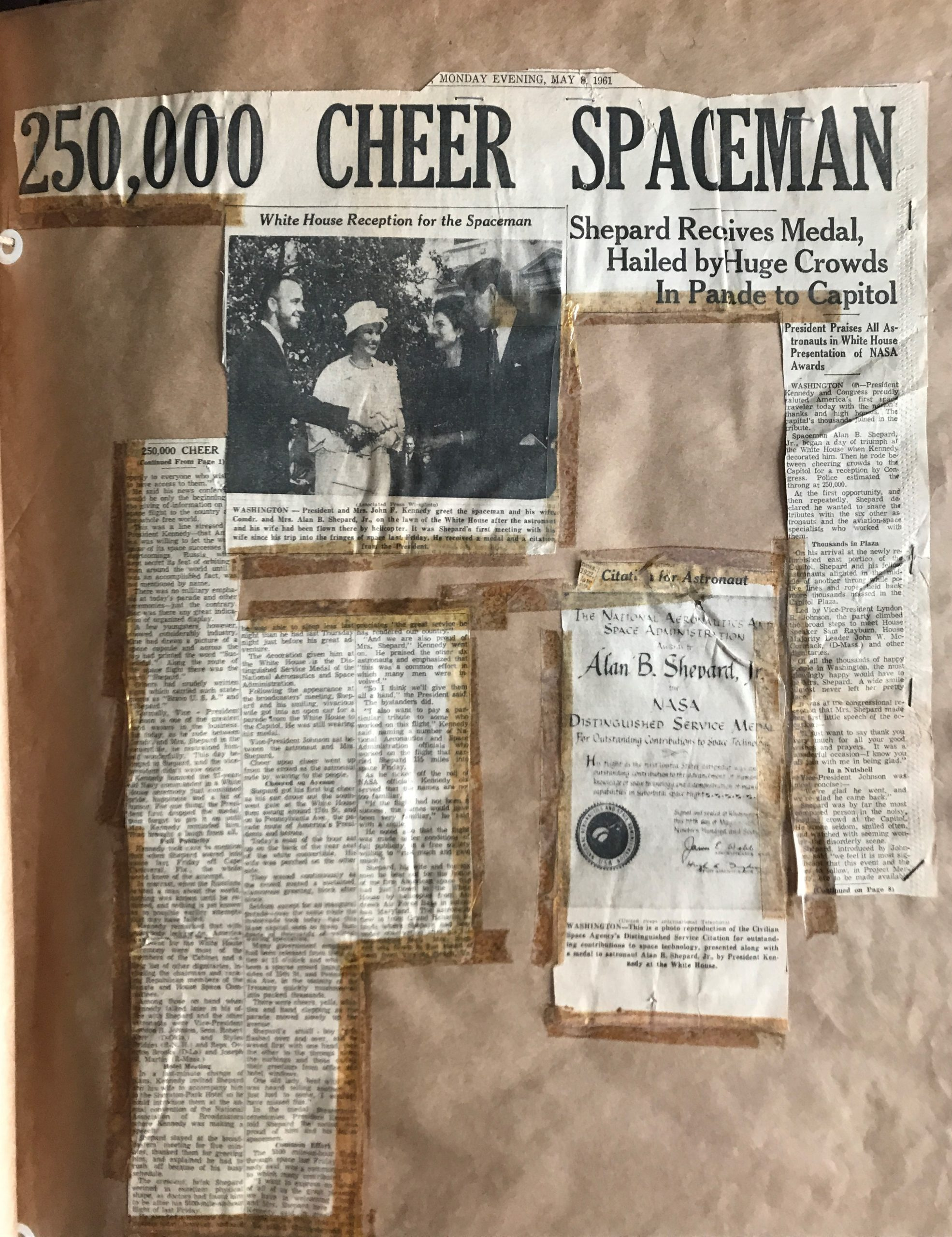 Scrapbook Page Reading 250,000 Cheer Spacemen