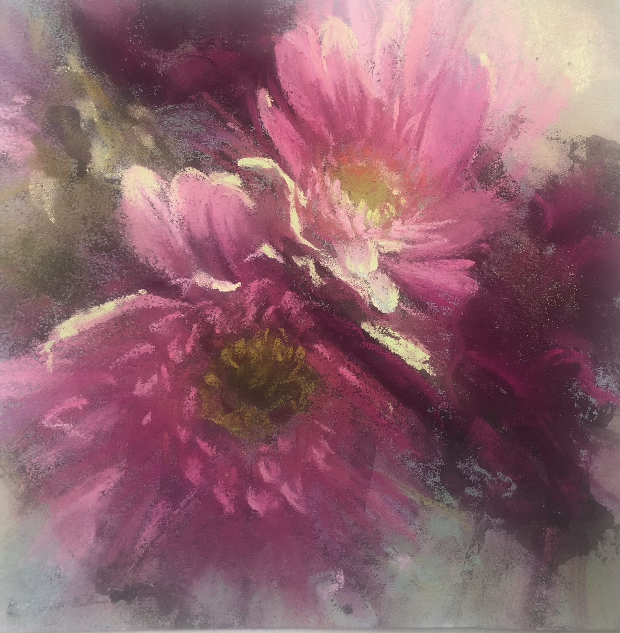 Floral Art In Pastels