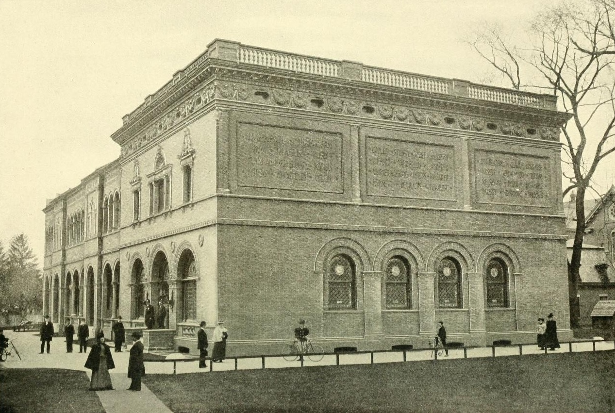 Museum Exterior, Facing State Street, Circa 1900. George Walter Vincent Smith Art Museum Archives.
