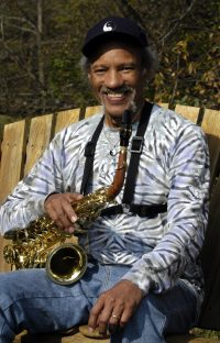 Musician Charles Neville at his Huntington home.