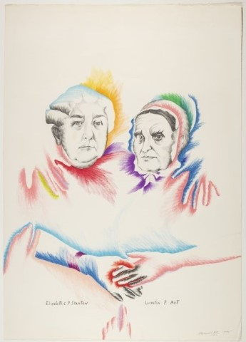 Women's Equality, 1975, lithograph by Marisol Escobar