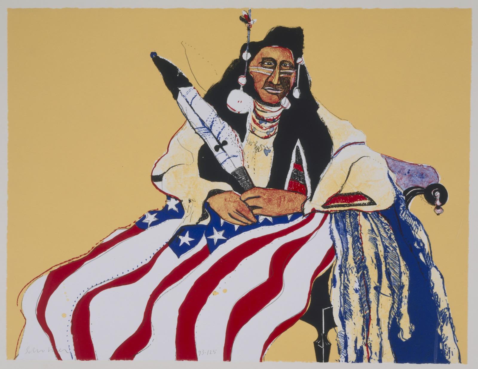 Bicentennial Indian by Fritz Scholder