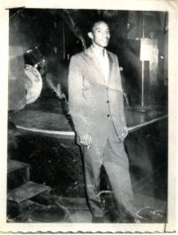 Charles Neville at the Dew Drop Inn, New Orleans, LA, c. 1957-1958.