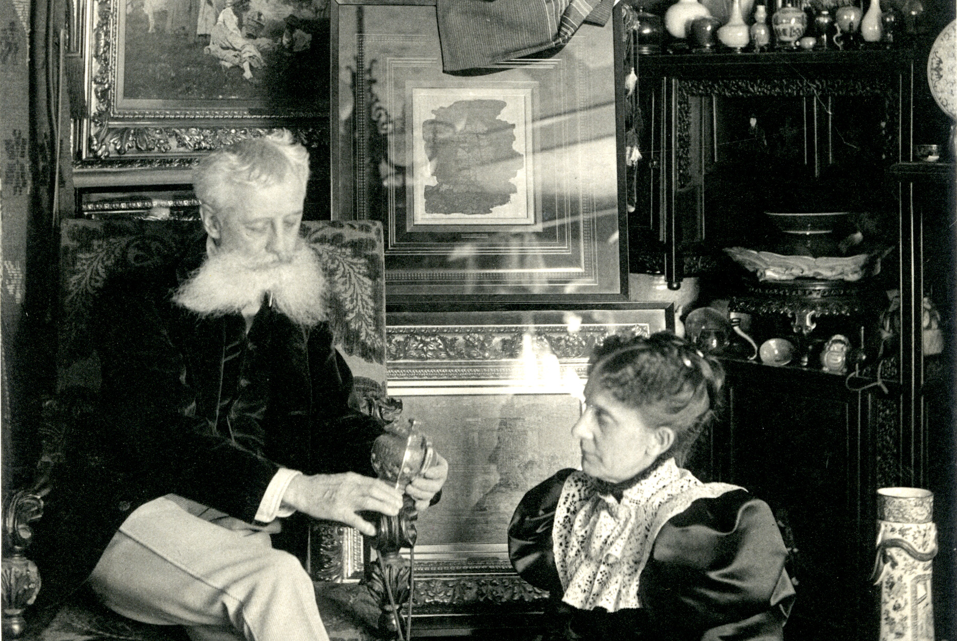 George Walter Vincent Smith and Belle Townsley Smith with Collection Objects, 1890s