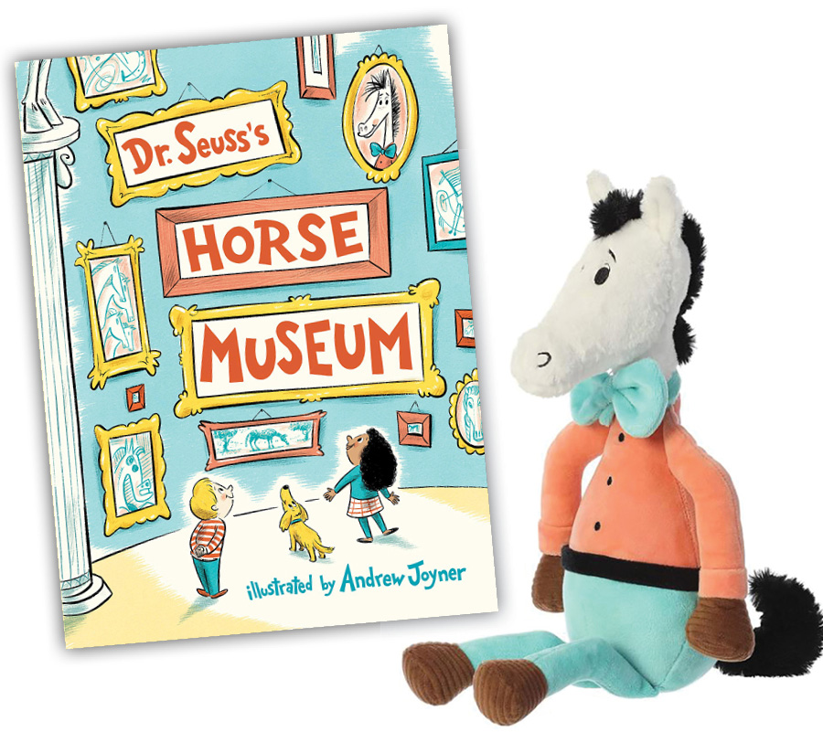 Dr. Seuss's Horse Museum book and plush character