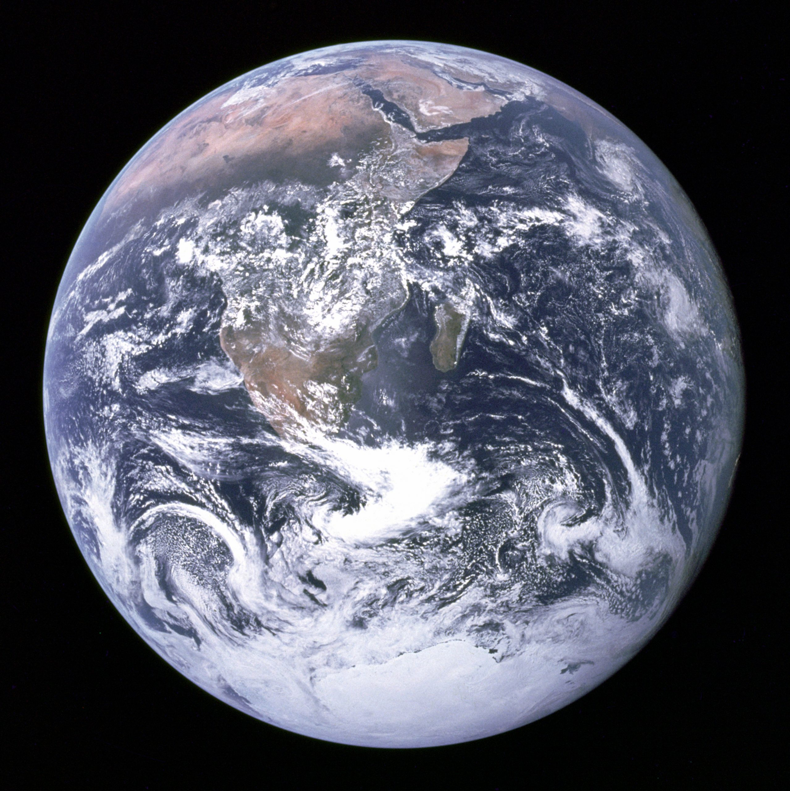 The Earth As Seen From Space. The Credit Info Is: The Earth Seen From Apollo 17, Apollo 17, Public Domain