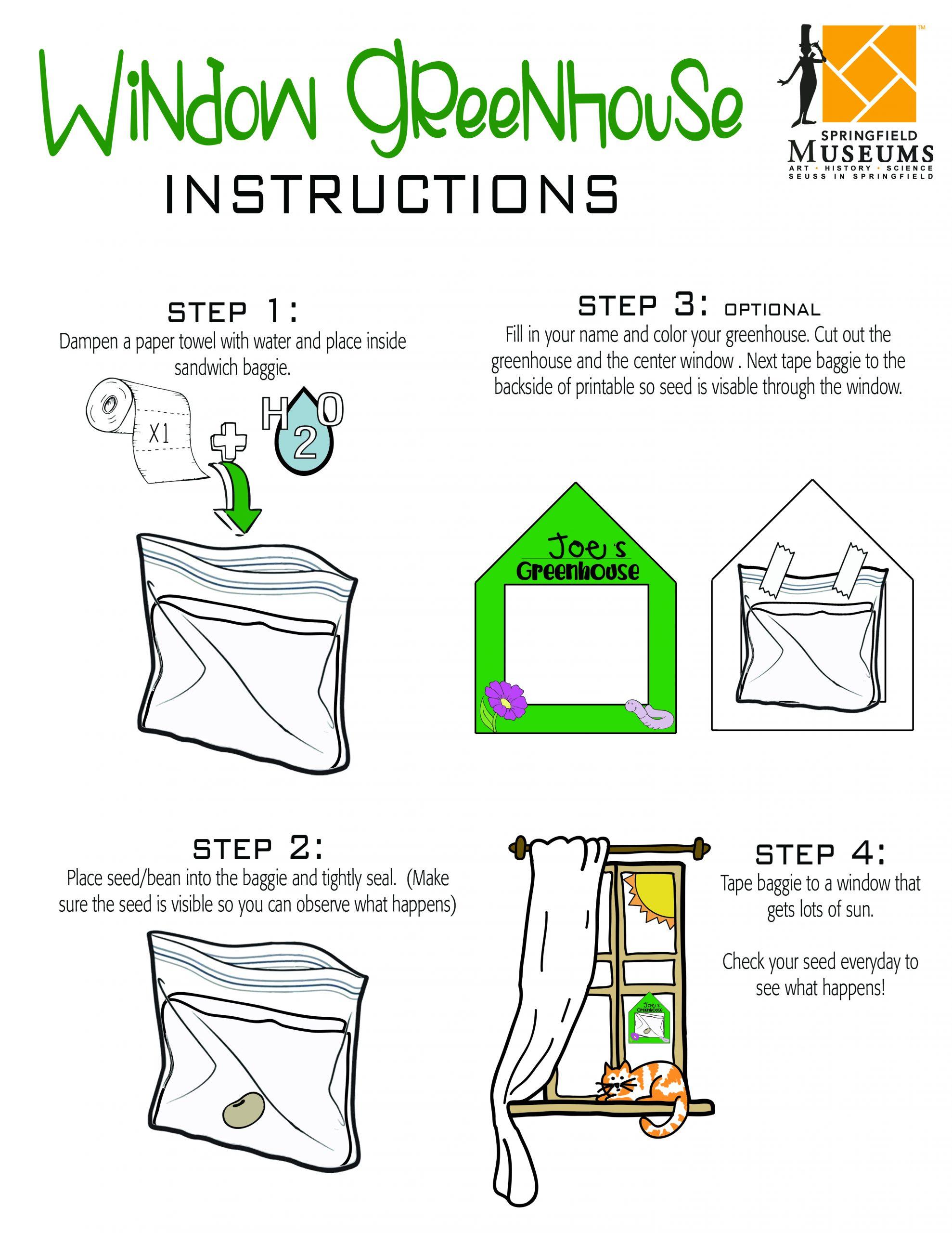 Window Green House Instructions