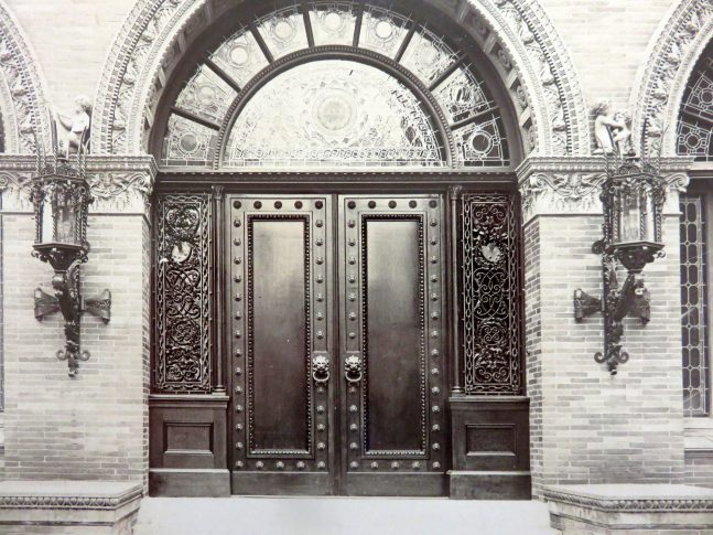Historic image of the front doors of the George Walter Vincent Smith Museums pre-renovation