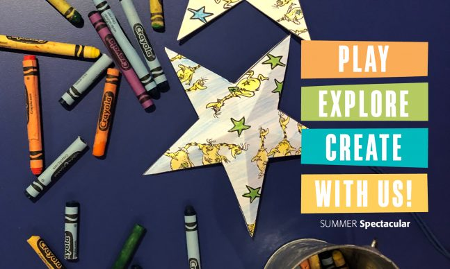Crayons and star-shaped ornament