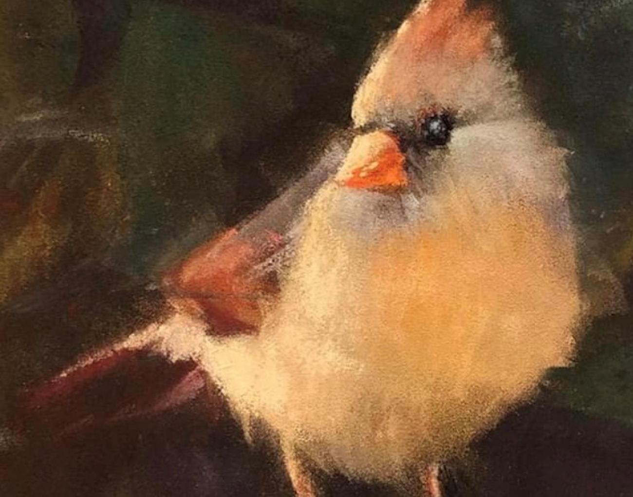 Pastel drawing of bird