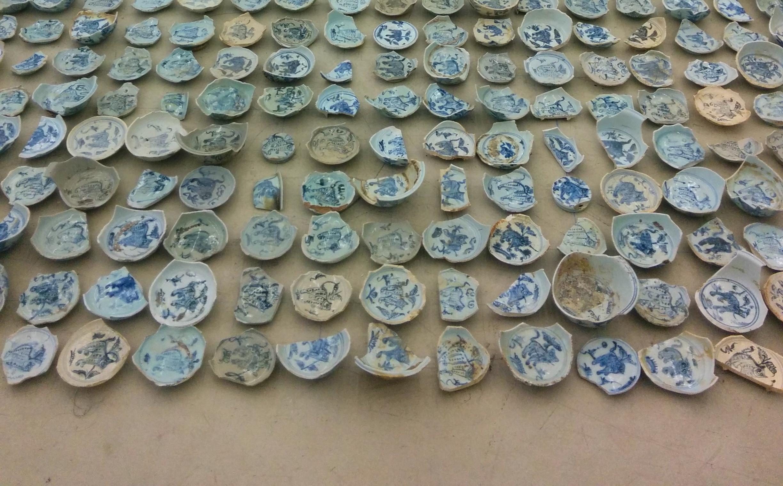 Broken Chinese porcelain